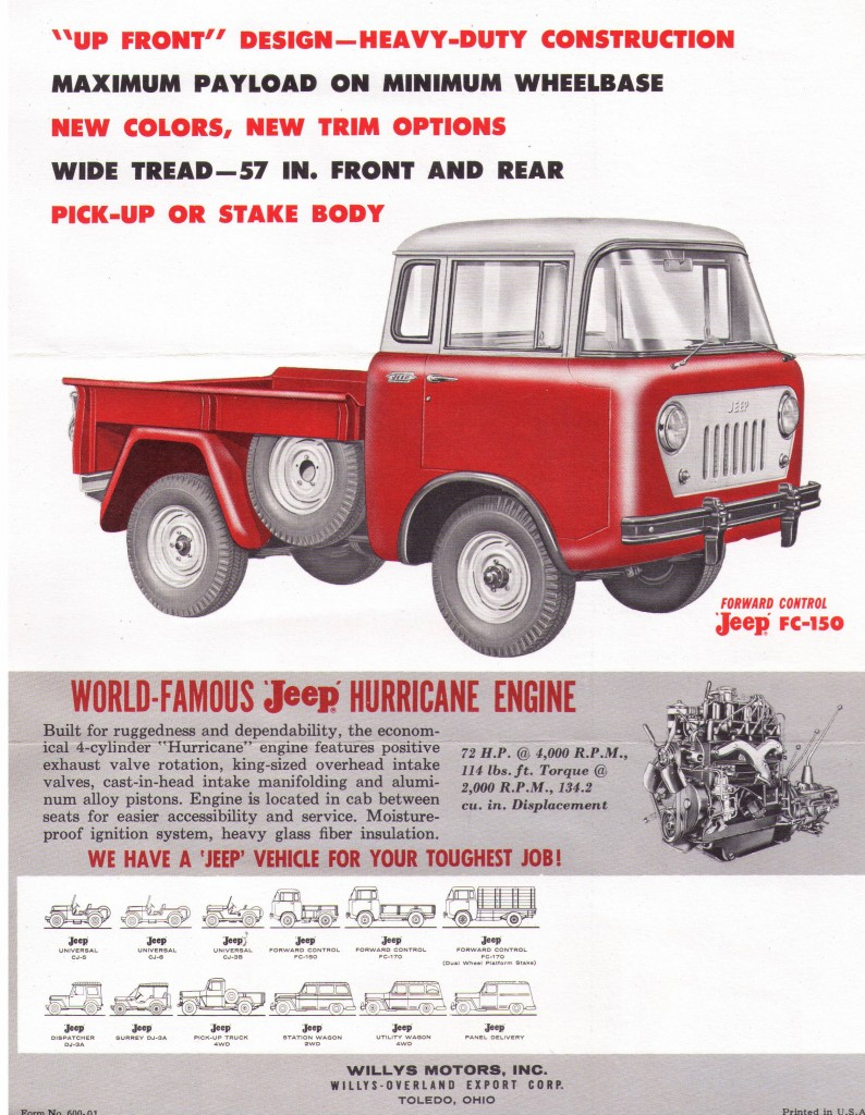 Willys Fc 150 Wiring Diagram Diagrams Alpine Stereo Bmw 5907 Sales Flyer Jeep 1960 Jeepwillysworld 1961 Truck