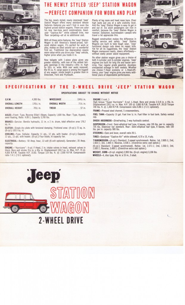 Sales Flyer Station Wagon 2WD 1960