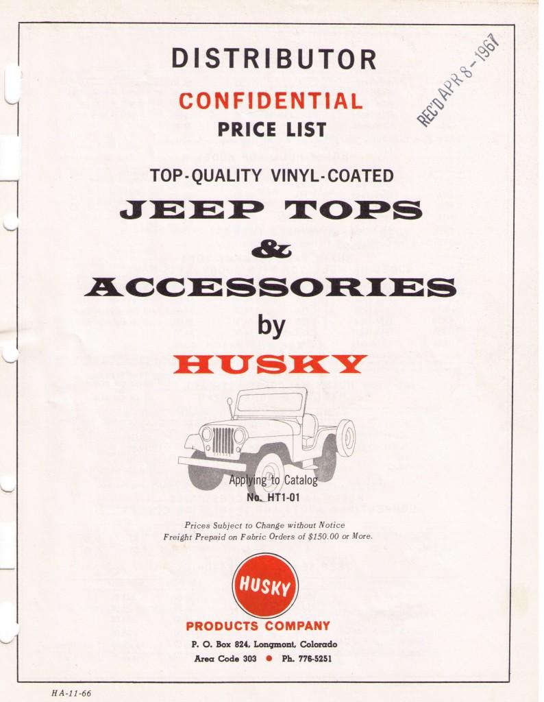 Husky_TopAndAccessories_Dealer_Cost_1968_1of4