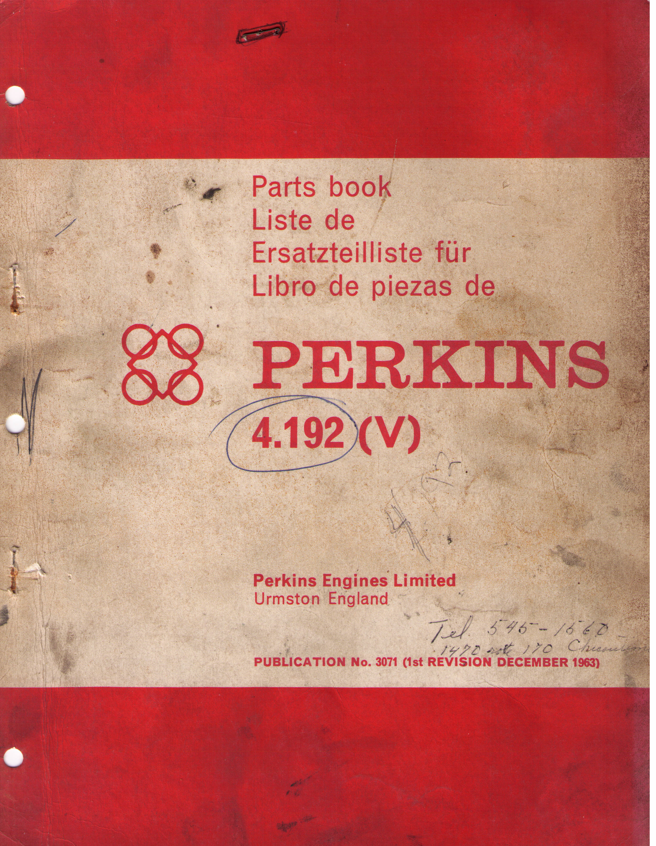 Parts Book Perkins Diesel 4 192 Jeep Willys World
