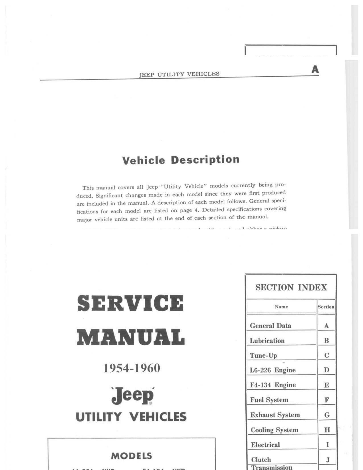 Jeep cj5 maintenance manual array service manual utility truck 1954 1960 jeep willys world rh jeepwillysworld com fandeluxe Image collections